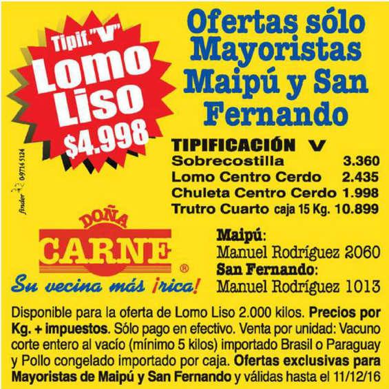 Ofertas de Doña Carne, exclusivo doña carne