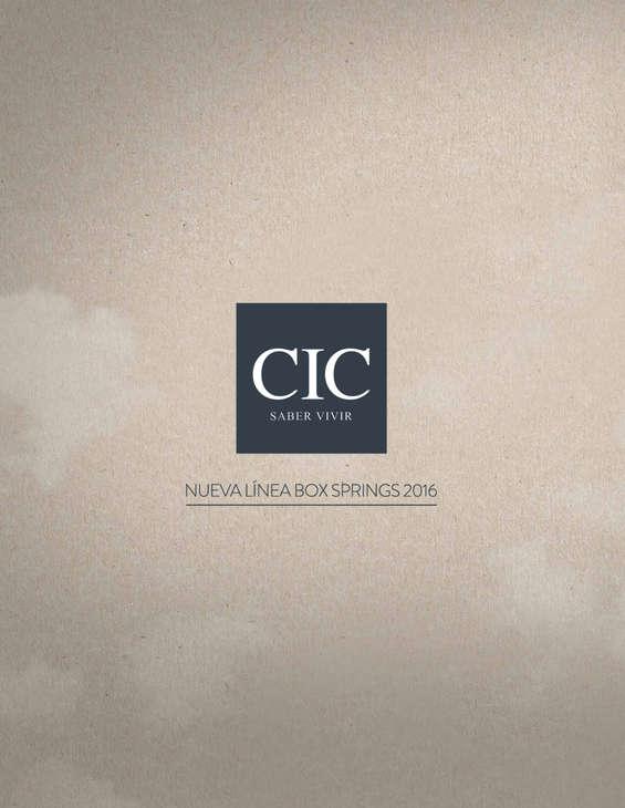 Ofertas de CIC, Línea Box Springs 2016