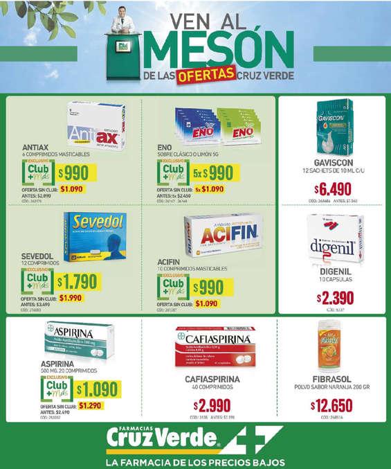 Ofertas de Cruz Verde, OFERTAS MEDICAMENTOS