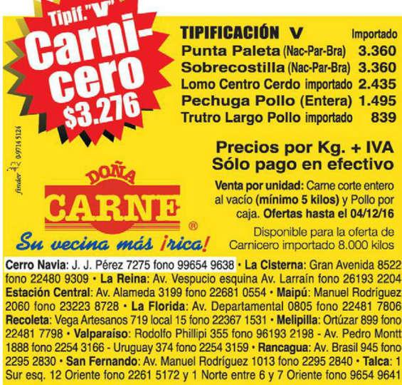 Ofertas de Doña Carne, ofertas de carne