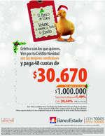 Ofertas de BancoEstado, crédito navidad