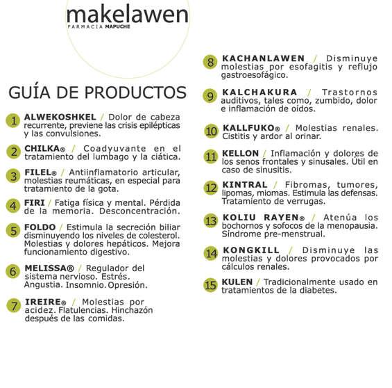 Ofertas de Farmacia Mapuche, guía de productos