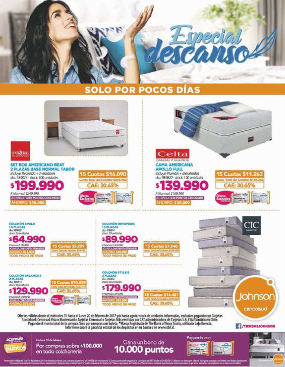 Ofertas de Johnson, especial descanso