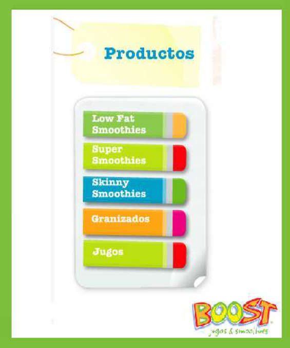 Ofertas de Boost, Productos Boost