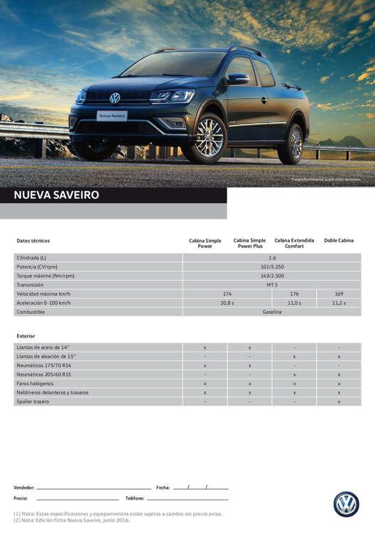 Ofertas de Volkswagen, nueva saveiro