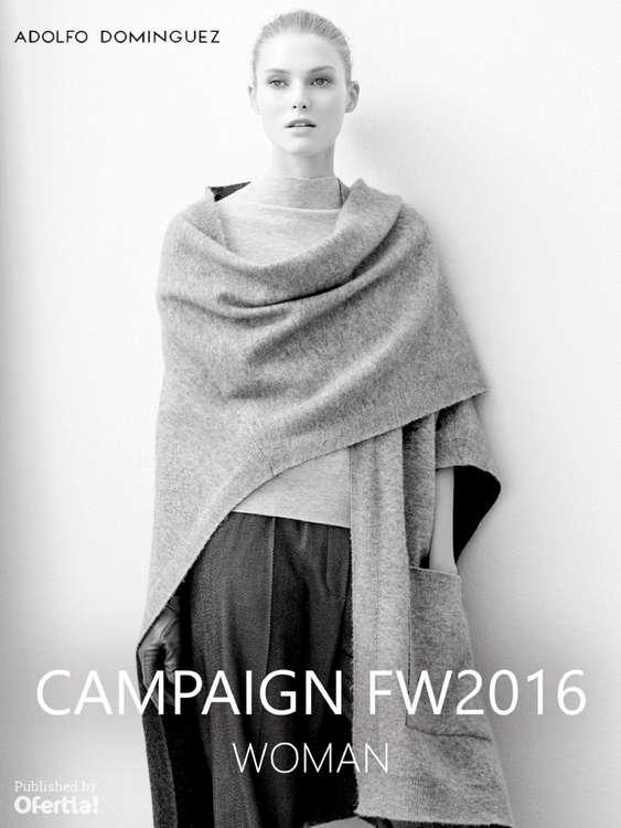 Ofertas de Adolfo Dominguez, Campaign FW2017 - Woman