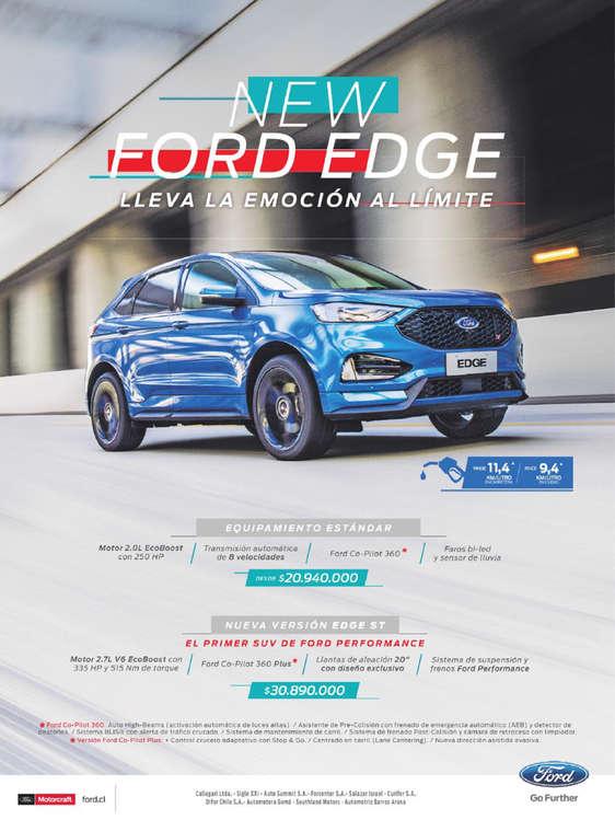 Ofertas de Ford, New Ford Edge