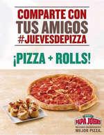 Ofertas de Papa John's, Pizza + Rolls