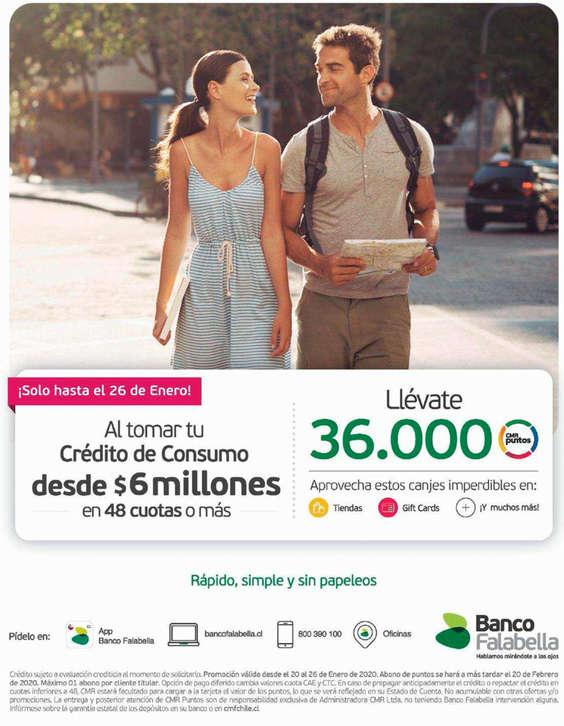 Ofertas de Banco Falabella, Llévate 36.000 CMR Puntos