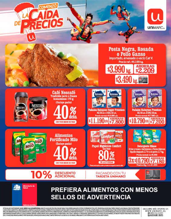 Ofertas de Unimarc, La Caía De Los Precios
