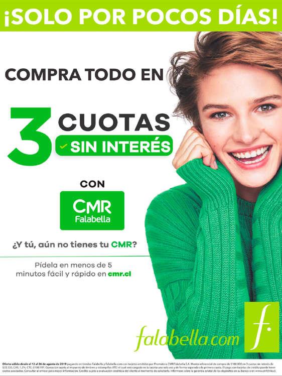 Ofertas de Falabella, Compra Todo en 3 Cuotas Sin Intereses