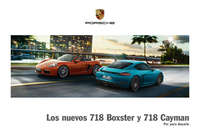 Nuevos Cayman y Boxster 718
