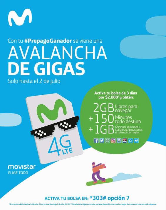Ofertas de Movistar, avalancha de gigas