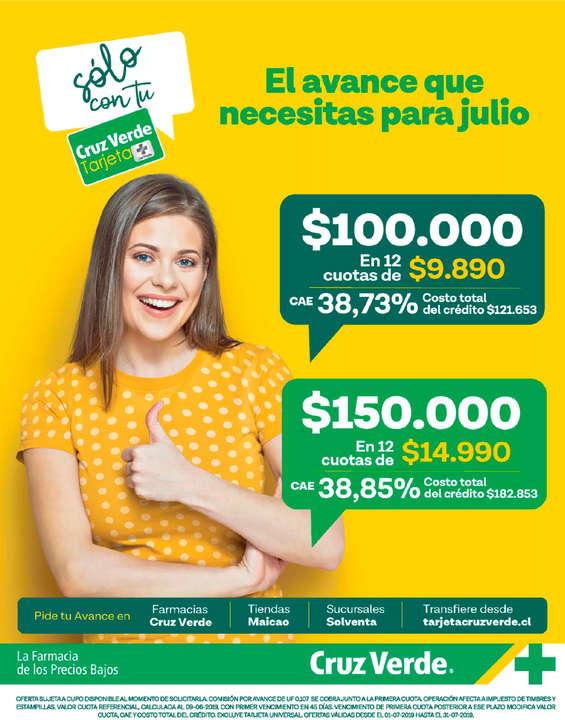 Ofertas de Cruz Verde, Avance Julio