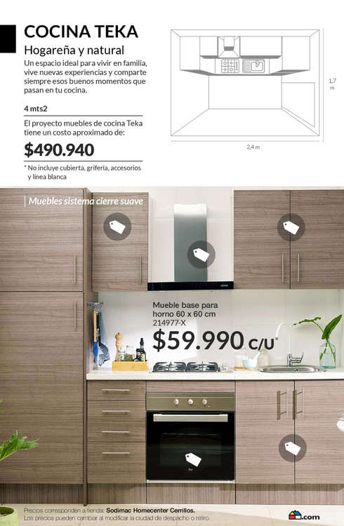 Comprar mueble de horno en puerto montt ofertas y for Oferta encimera y horno