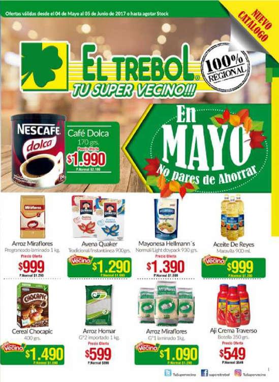 Ofertas de Supermercado El Trébol, catálogo mayo