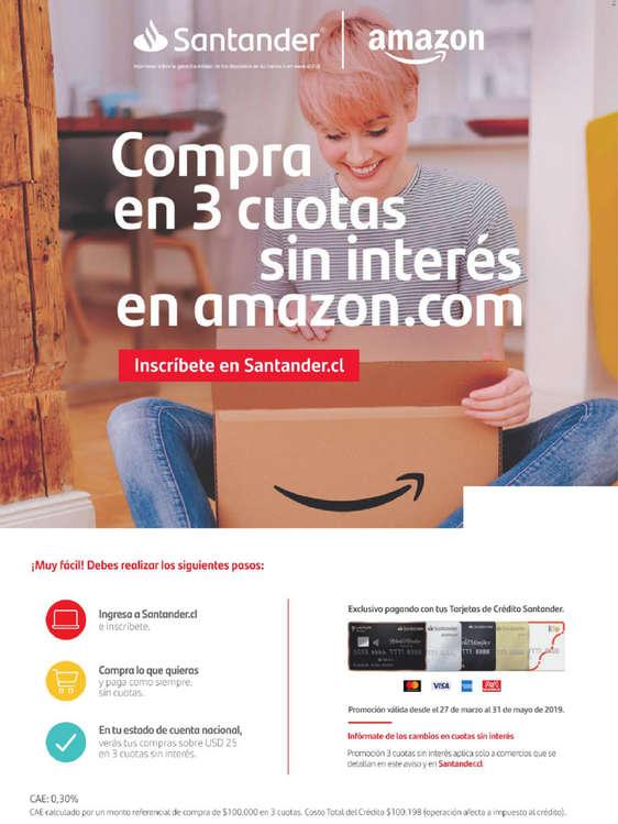 Ofertas de Santander, Compra En 3 Cuotas Sin Intereses En Amazon