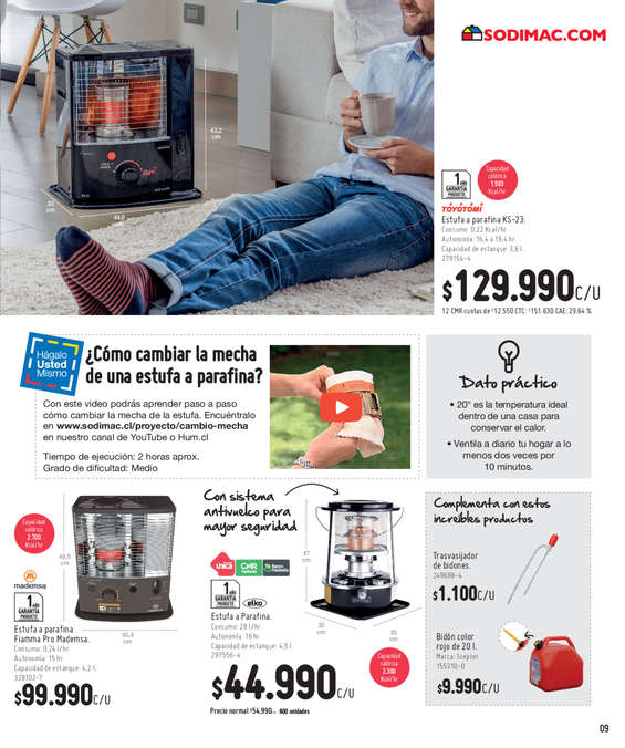 Ofertas de HomeCenter Sodimac, Home Calefacción