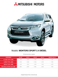 Montero Sport 2.4 Diésel