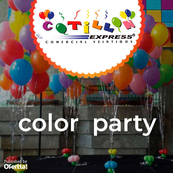 Ofertas de Cotillón Express, Color Party